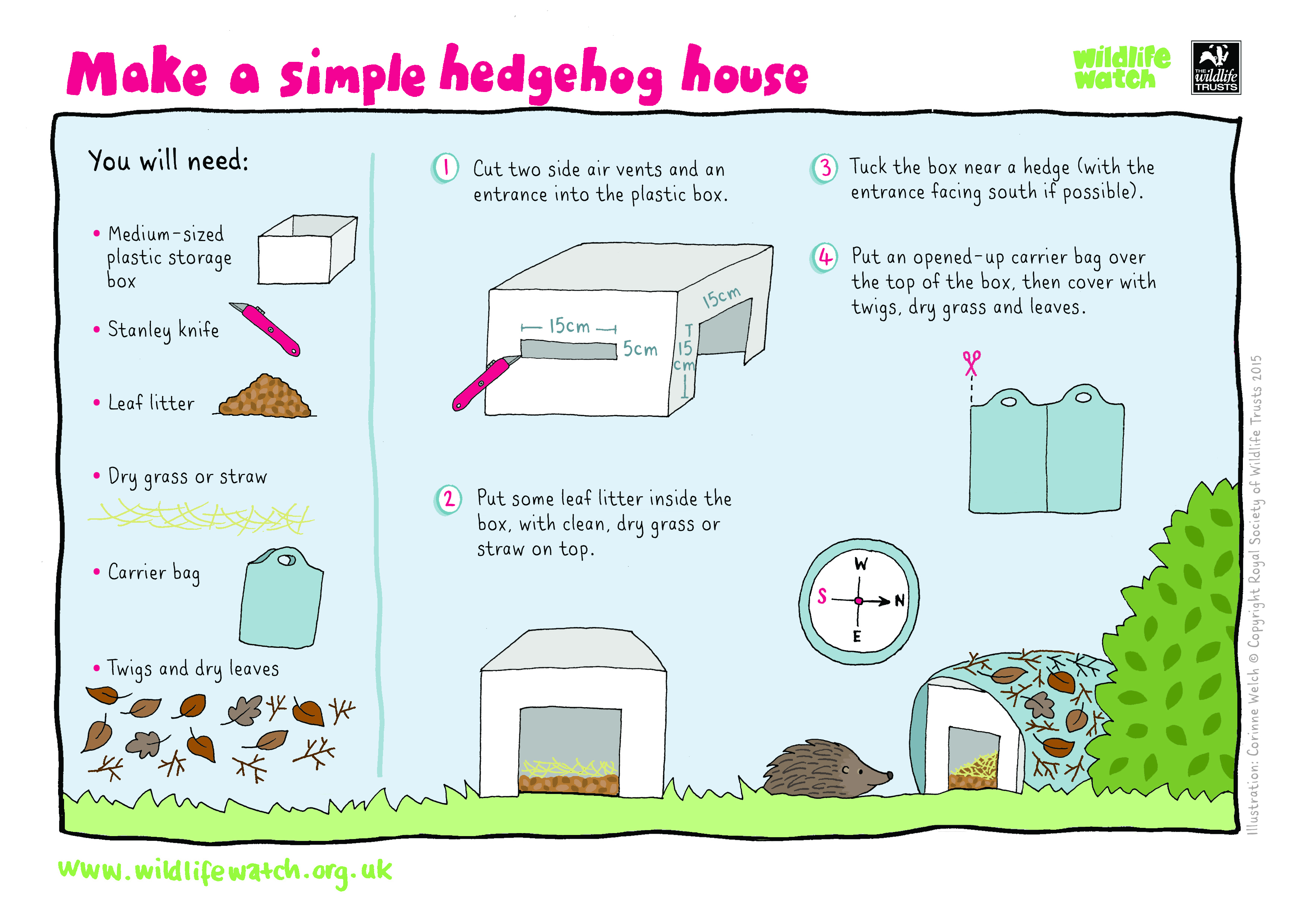 How To Build A Hedgehog Home The Wildlife Trusts