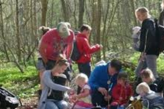 Family day in Priors Wood