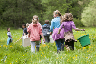 Children at the wildlife trusts