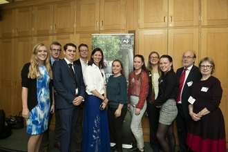 Young people and MPs at the Parliamentary Reception