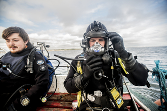 The Living Seas dive team