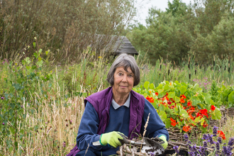 Carol gardening as a volunteer