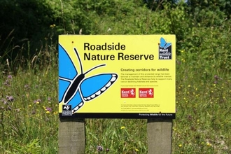 Roadside reserve sign wildlife trust