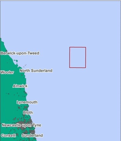 Map location of North East of Farnes Deep MCZ