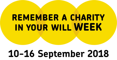 The logo of Remember a Charity Week, 2018