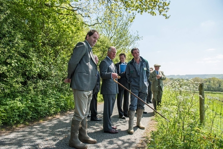 Prince Charles at Dorset Wildlife Trust's Kingcombe Nature Reserve in 2017, celebrating its 30 years anniversary
