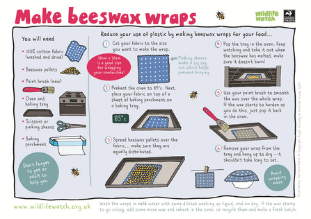 Make beeswax wraps activity sheet