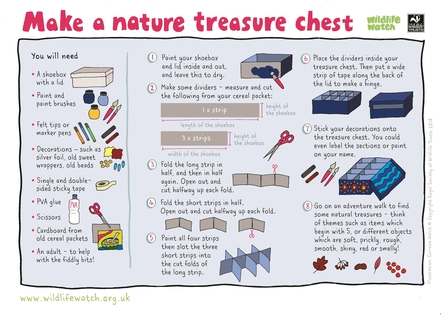 Make a treasure chest activity sheet