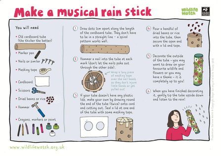 Make a rain stick activity sheet